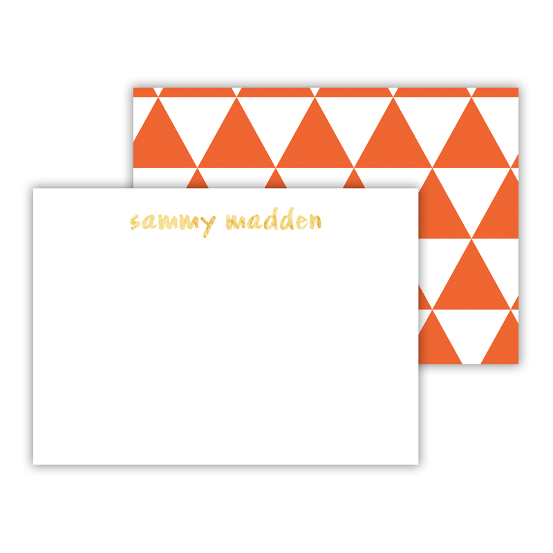 Triangles Foil Personalized Mini Flat Card with Foil Accents (25 cards)