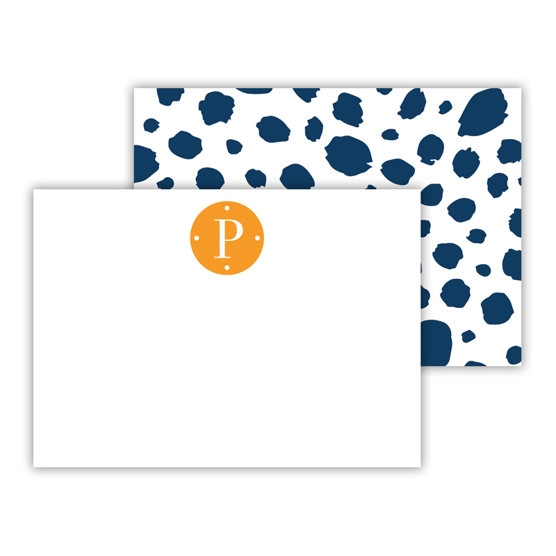 Cheetah Personalized Mini Flat Note Card (25 cards)