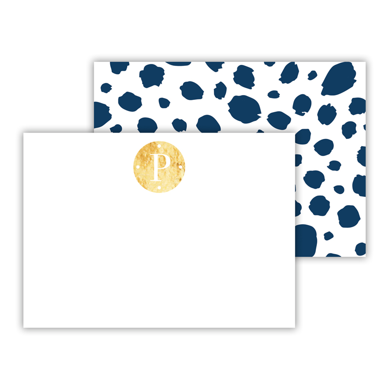 Cheetah Foil Personalized Mini Flat Card with Foil Accents (25 cards)
