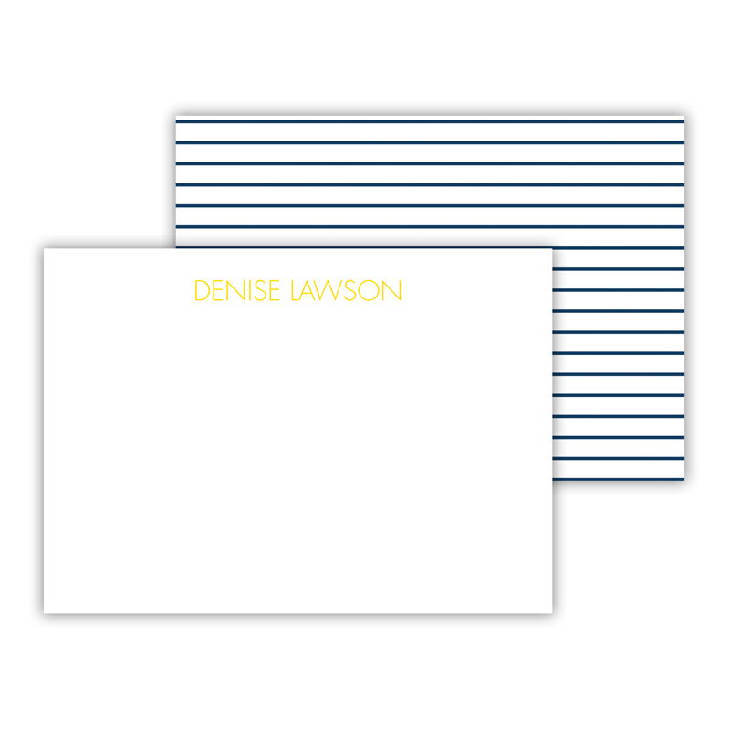 Pinny Personalized Mini Flat Note Card (25 cards)