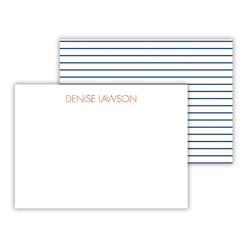 Pinny Foil Personalized Mini Flat Card with Foil Accents (25 cards)