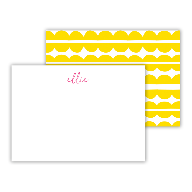 Caterpillar Personalized Mini Flat Note Card (25 cards)