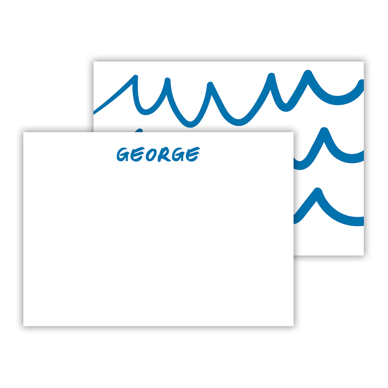 Waves Personalized Mini Flat Notes