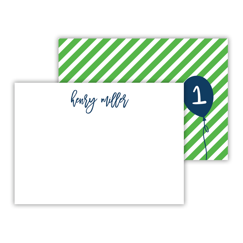 Float Away Personalized Mini Flat Notes