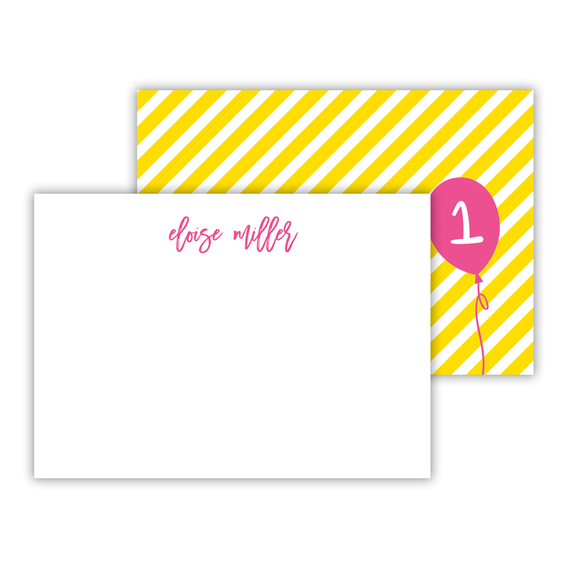 Float Away 2 Personalized Mini Flat Notes