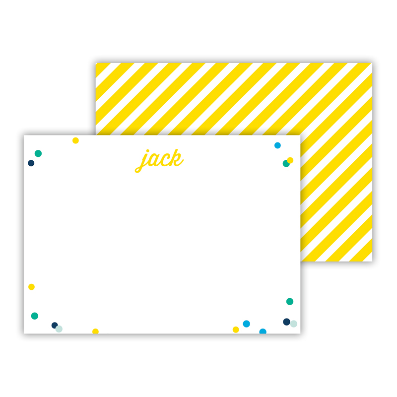Hooray Personalized Mini Flat Notes