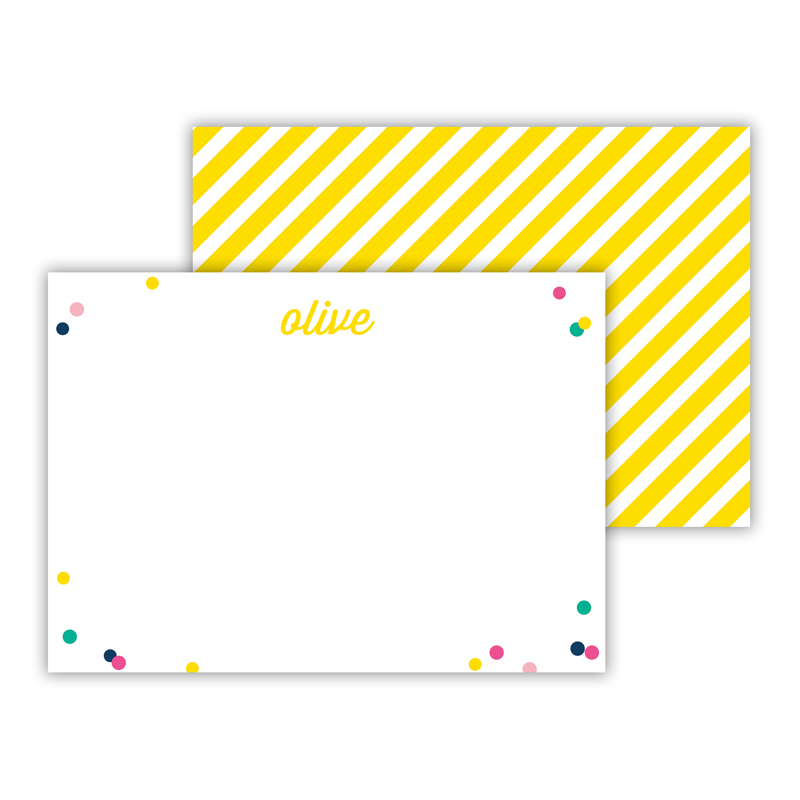 Hooray 2 Personalized Mini Flat Notes