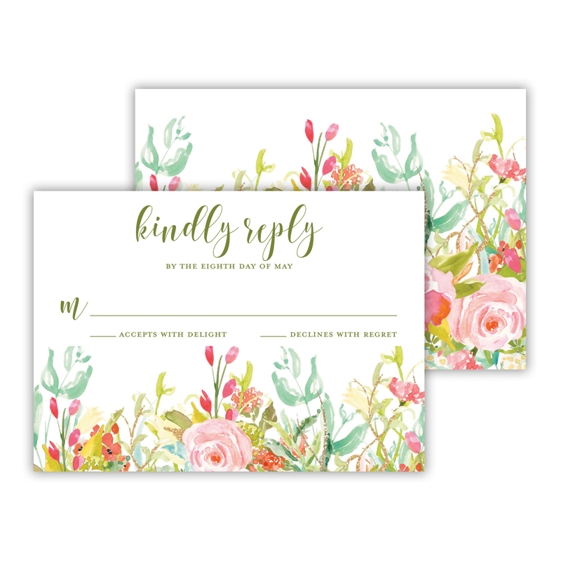 Everything Rosy 25 Personalized Response Cards