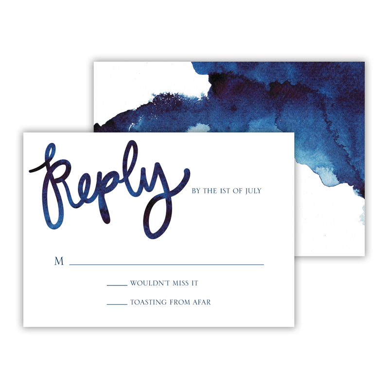 Watercolor 25 Personalized Response Cards