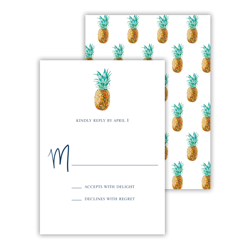 Pineapple 25 Personalized Response Cards