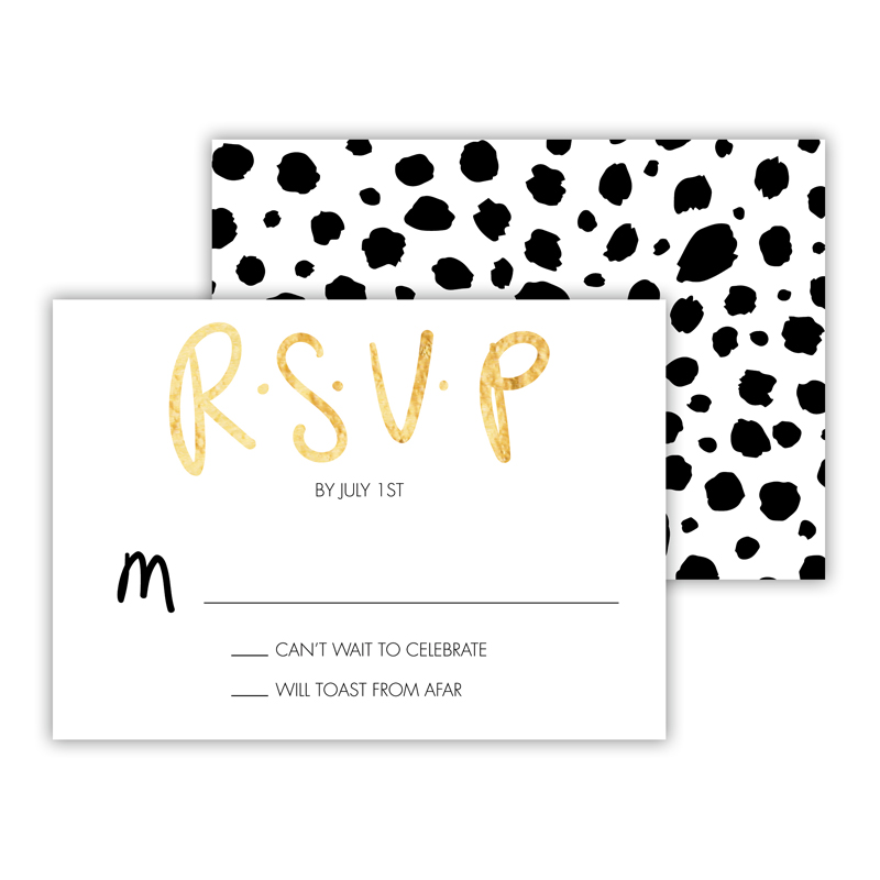 Yay! Foil 25 Personalized Response Cards