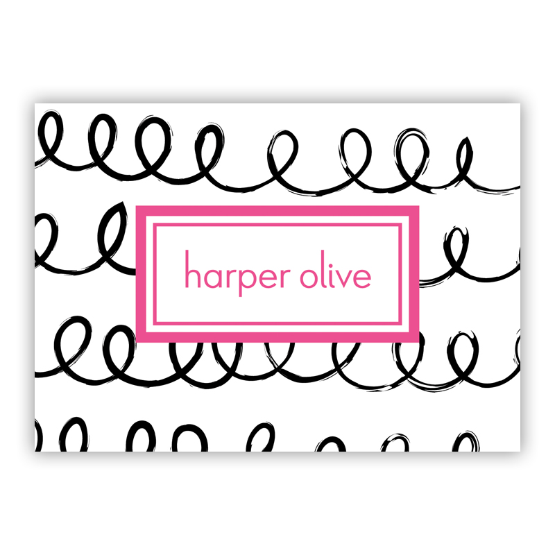 Weeeee Personalized Mini Folded Note Cards (25 cards)