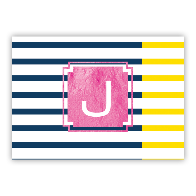 Twice As Nice Foil Personalized Mini Folded Note with Foil Accent (25 cards)