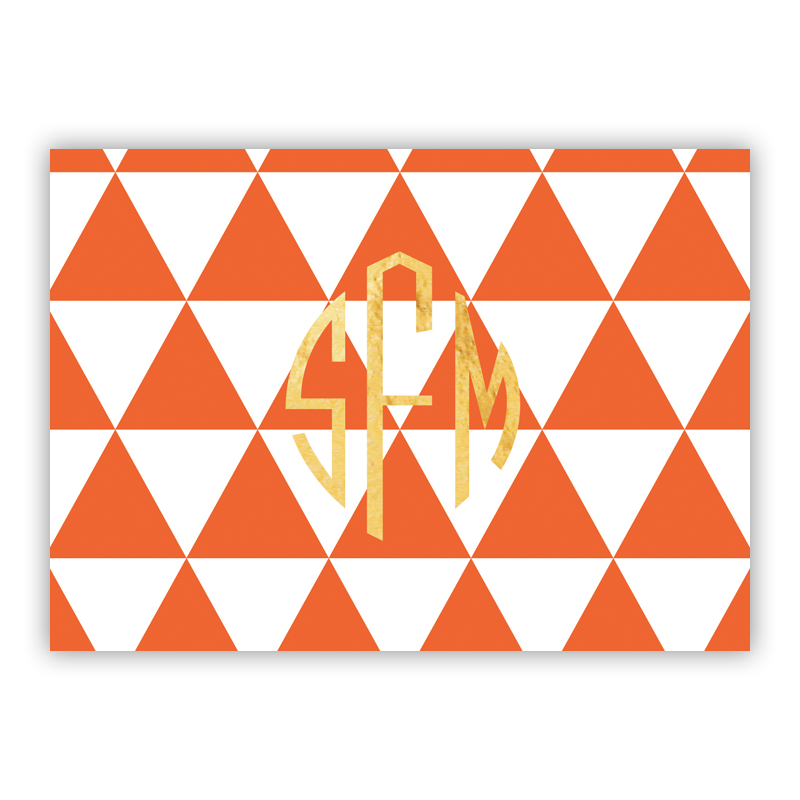 Triangles Foil Personalized Mini Folded Note with Foil Accent (25 cards)