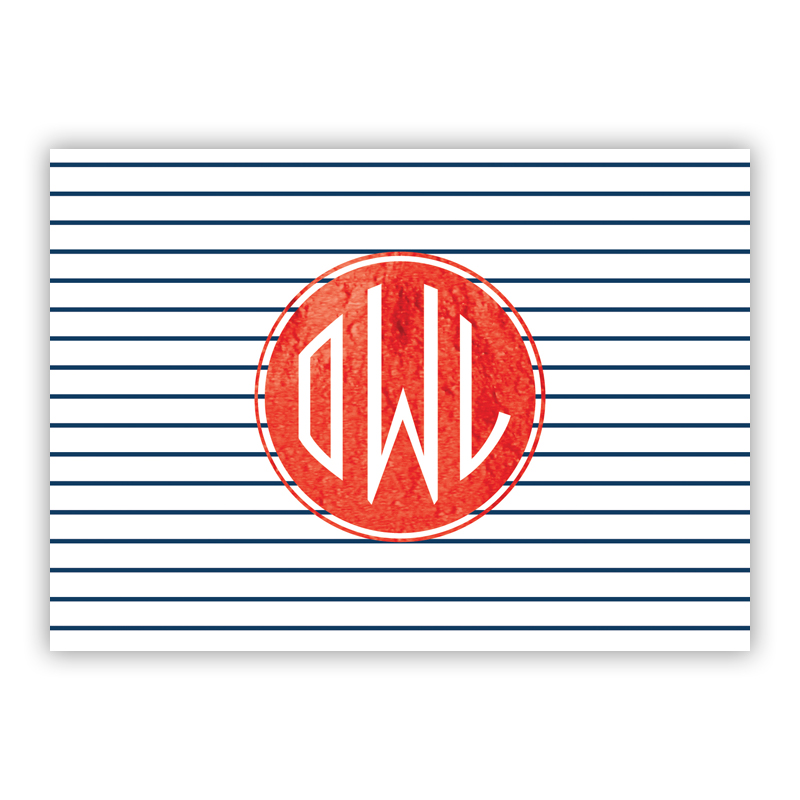 Pinny Foil Personalized Mini Folded Note with Foil Accent (25 cards)