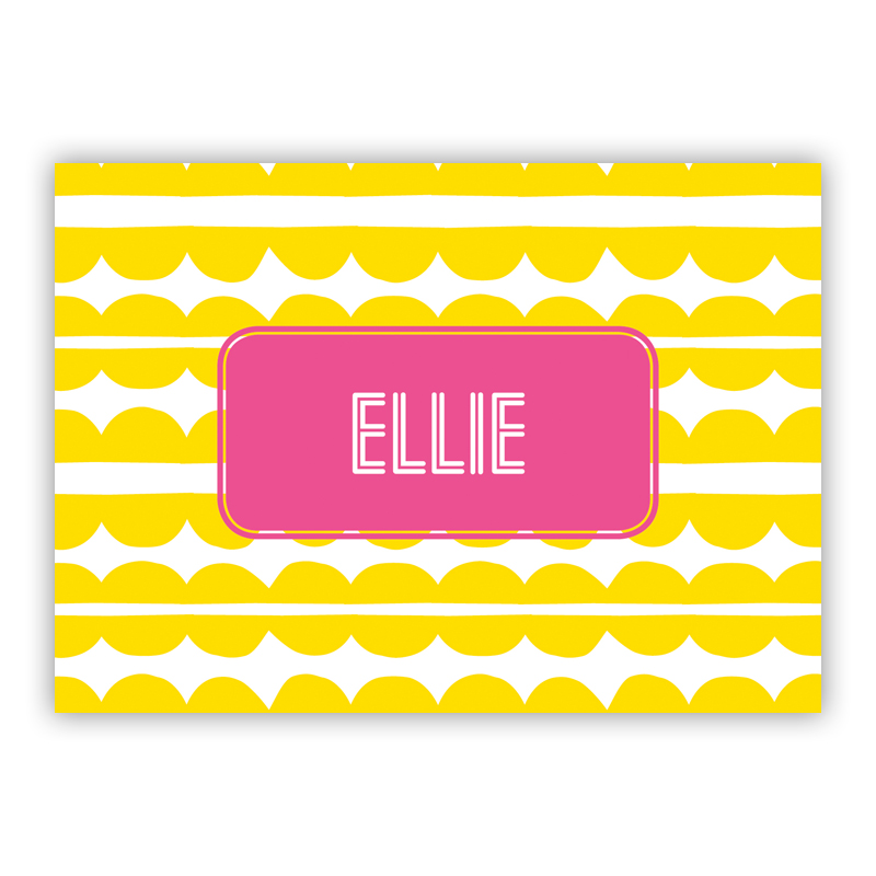 Caterpillar Personalized Mini Folded Note Cards (25 cards)