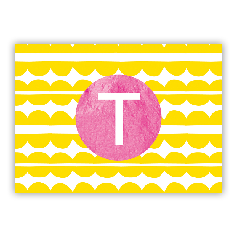 Caterpillar Foil Personalized Mini Folded Note with Foil Accent (25 cards)
