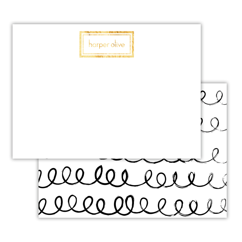 Weeeee Foil Personalized Deluxe Flat Card with Foil Accents (25 cards)