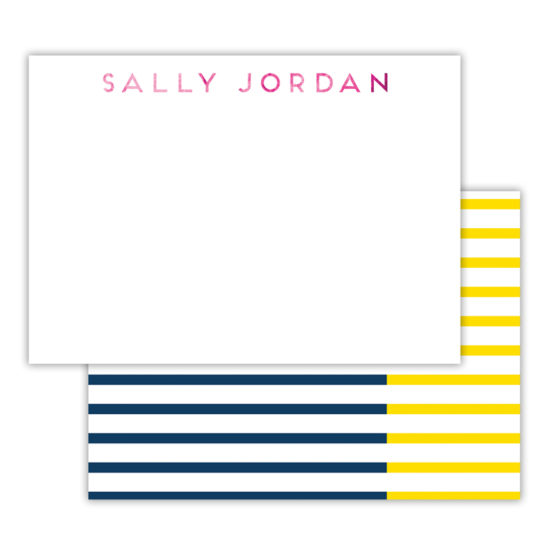 Twice As Nice Foil Personalized Deluxe Flat Card with Foil Accents (25 cards)