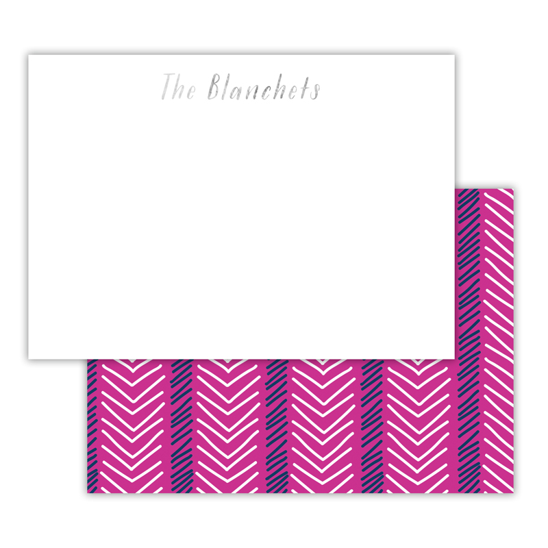 Topstitch Foil Personalized Deluxe Flat Card with Foil Accents (25 cards)