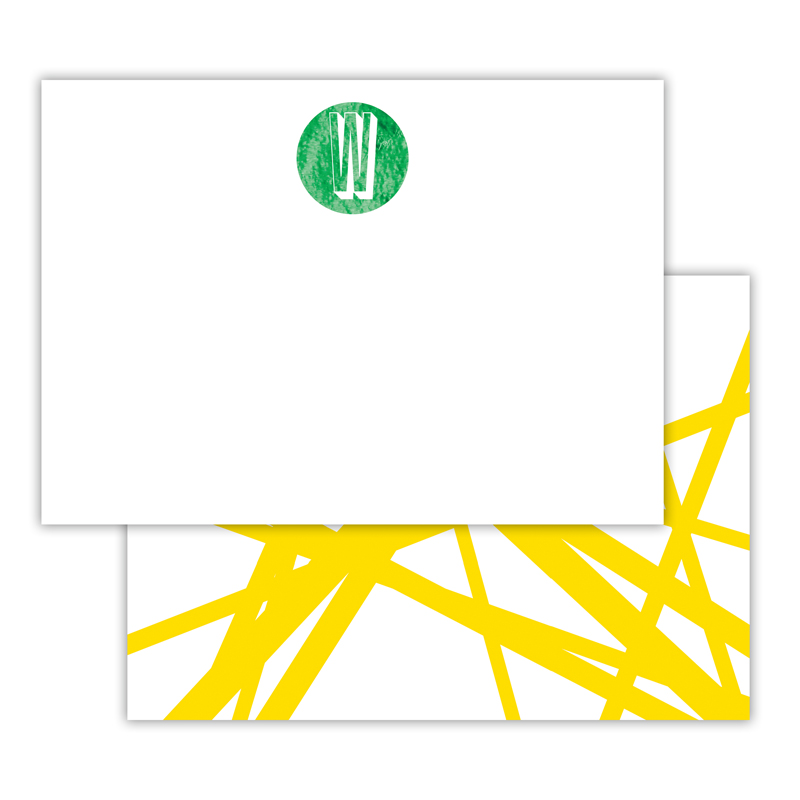 Pick Up Stix Foil Personalized Deluxe Flat Card with Foil Accents (25 cards)