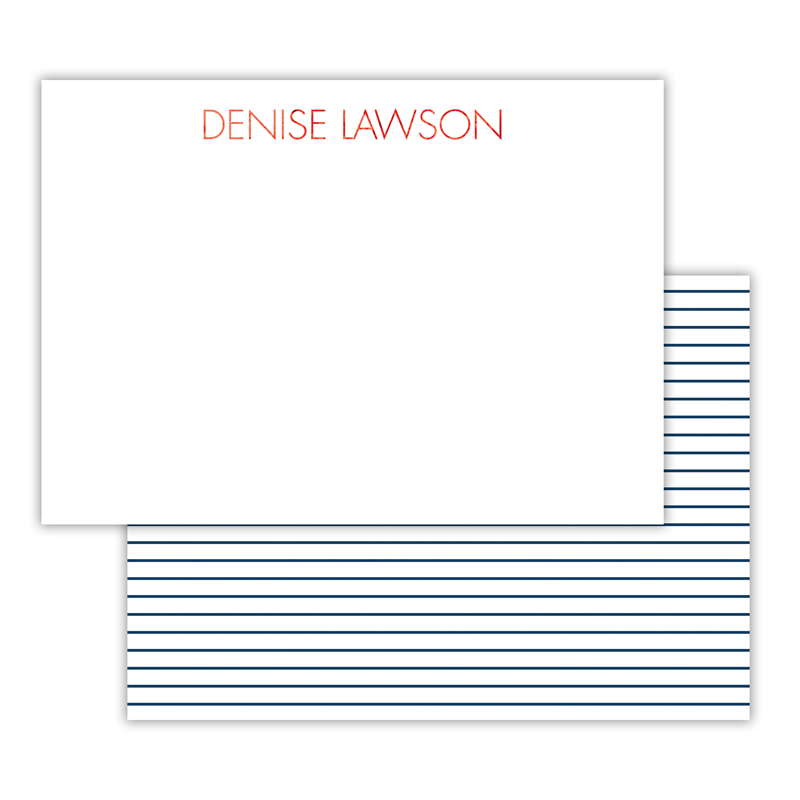Pinny Foil Personalized Deluxe Flat Card with Foil Accents (25 cards)