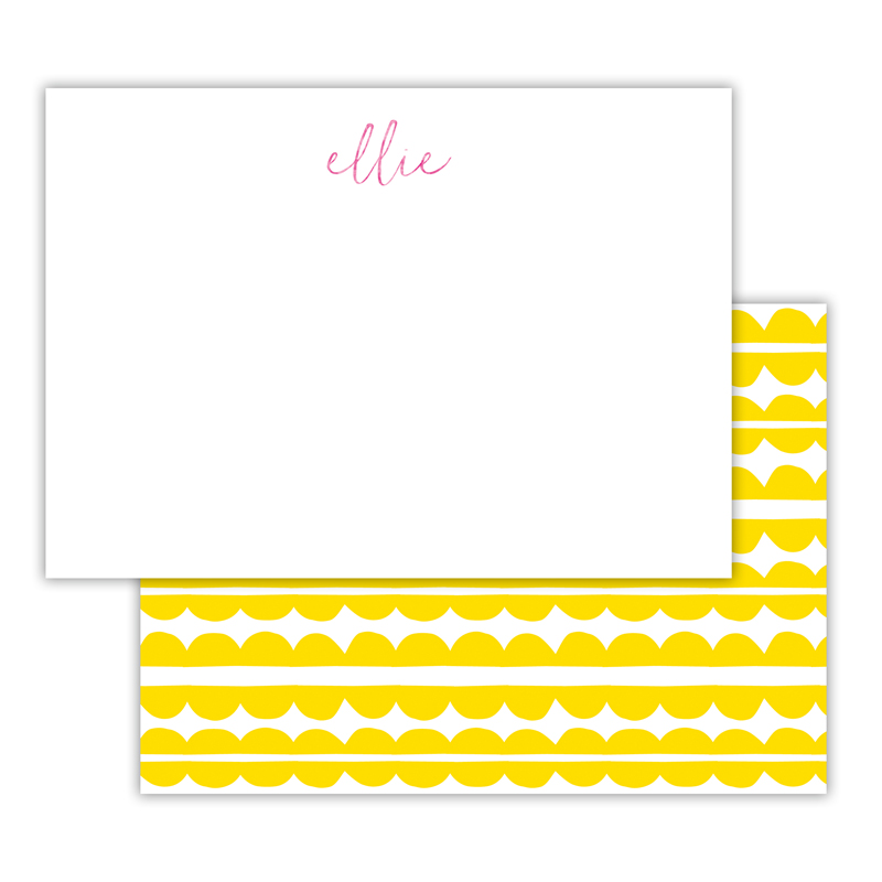 Caterpillar Foil Personalized Deluxe Flat Card with Foil Accents (25 cards)