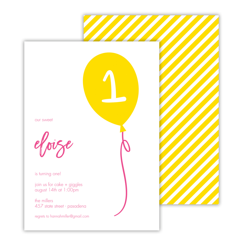 Float Away 2 Deluxe Flat Card Invitations (25)