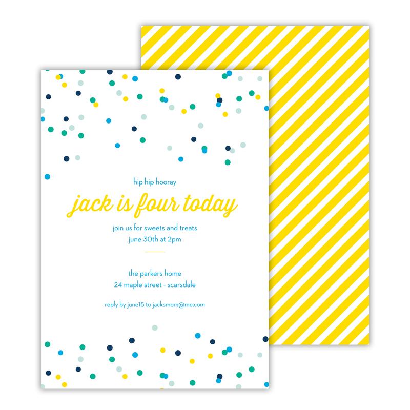 Hooray Deluxe Flat Card Invitations (25)
