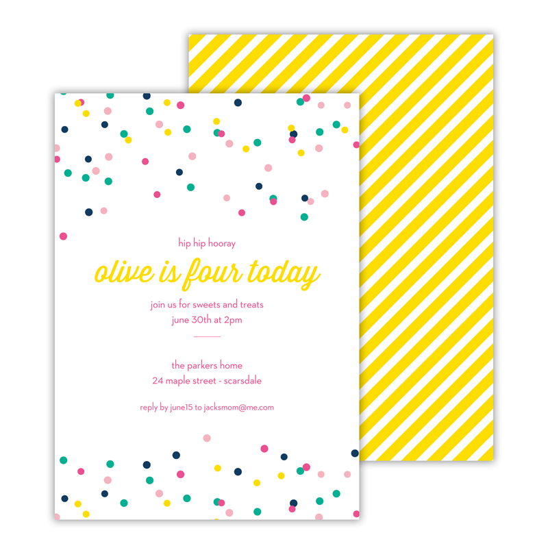 Hooray 2 Deluxe Flat Card Invitations (25)