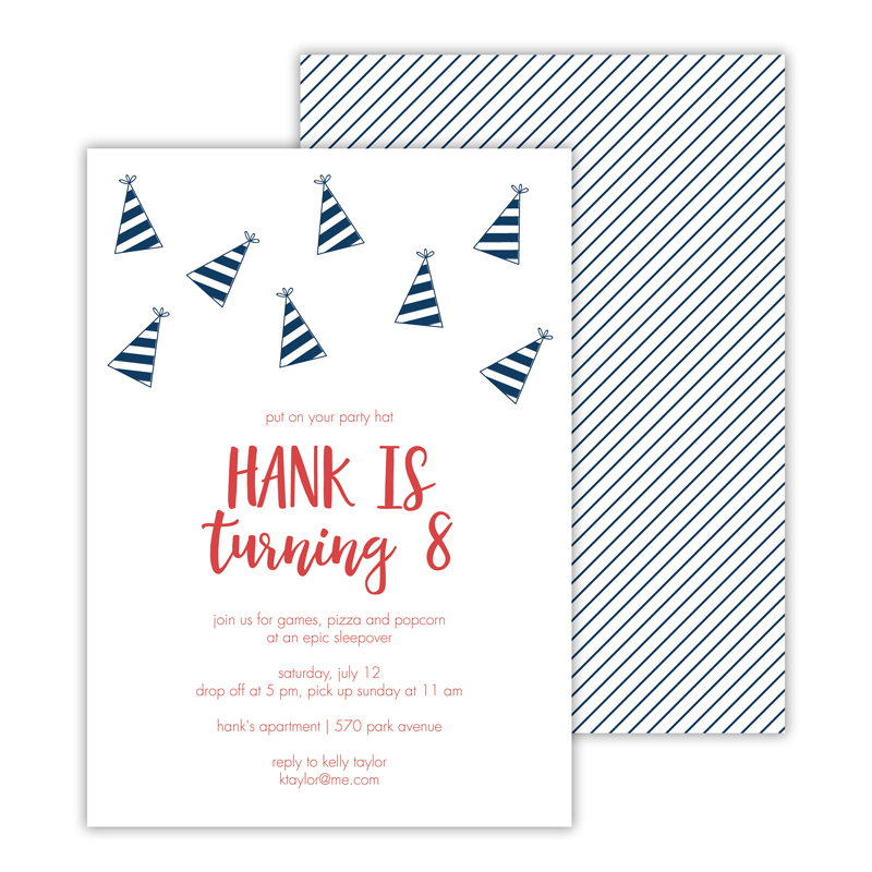 Party Hat Deluxe Flat Card Invitations (25)
