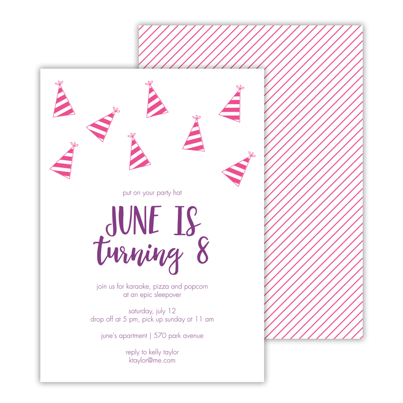 Party Hat 2 Deluxe Flat Card Invitations (25)