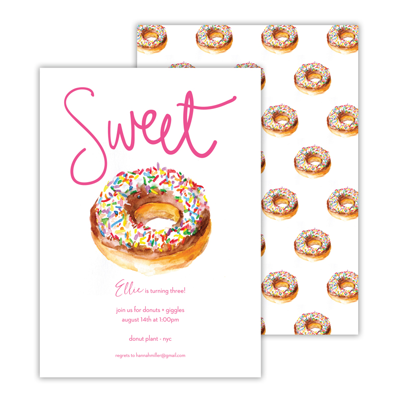 Sweet Deluxe Flat Card Invitations (25)