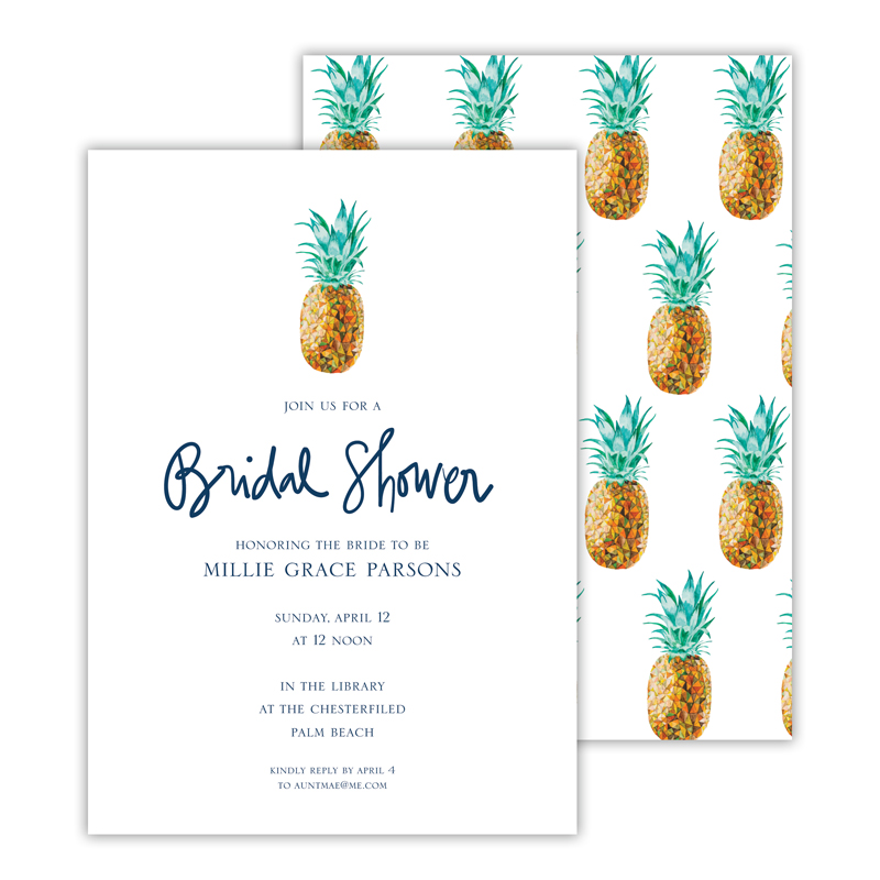 Pineapple Deluxe Flat Invitation or Save the Date Card (25 cards)