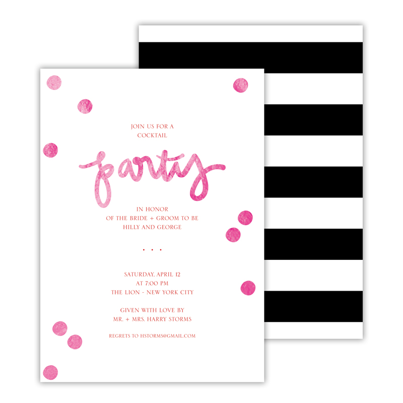 Festive Foil Deluxe Flat Invitation or Save the Date Card (25 cards)