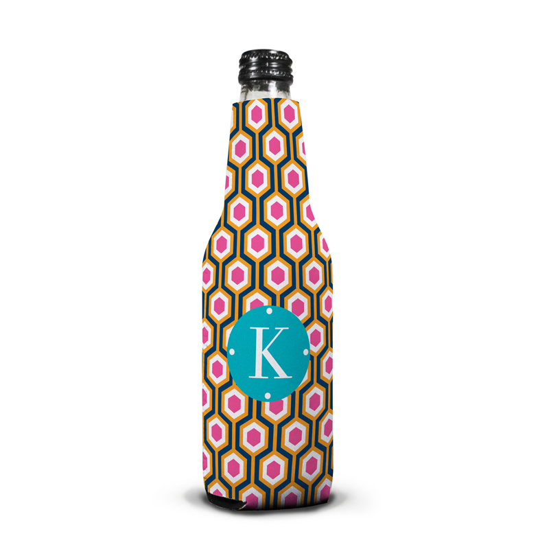 London Calling Personalized Bottle Koozie