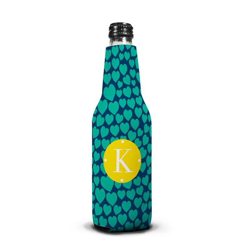 Love Struck Personalized Bottle Koozie
