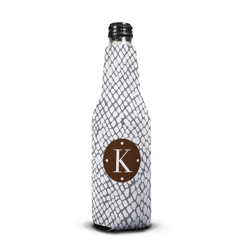 Snakeskin Personalized Bottle Koozie