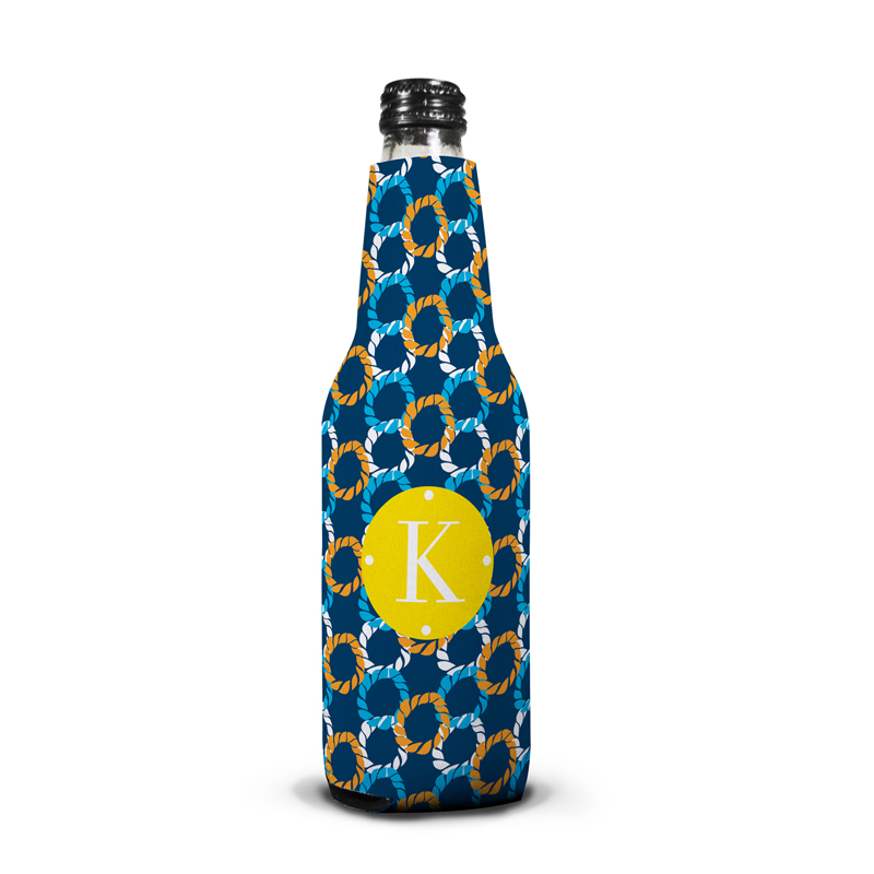 Nautical Knots Personalized Bottle Koozie