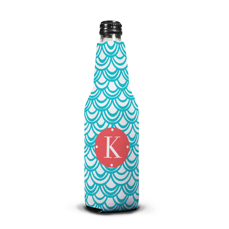 Seashells Personalized Bottle Koozie