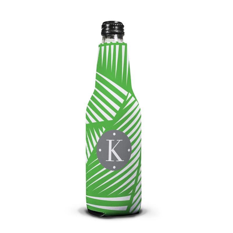 Palm Personalized Bottle Koozie