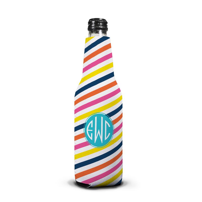 Fruit Stripe Personalized Bottle Koozie