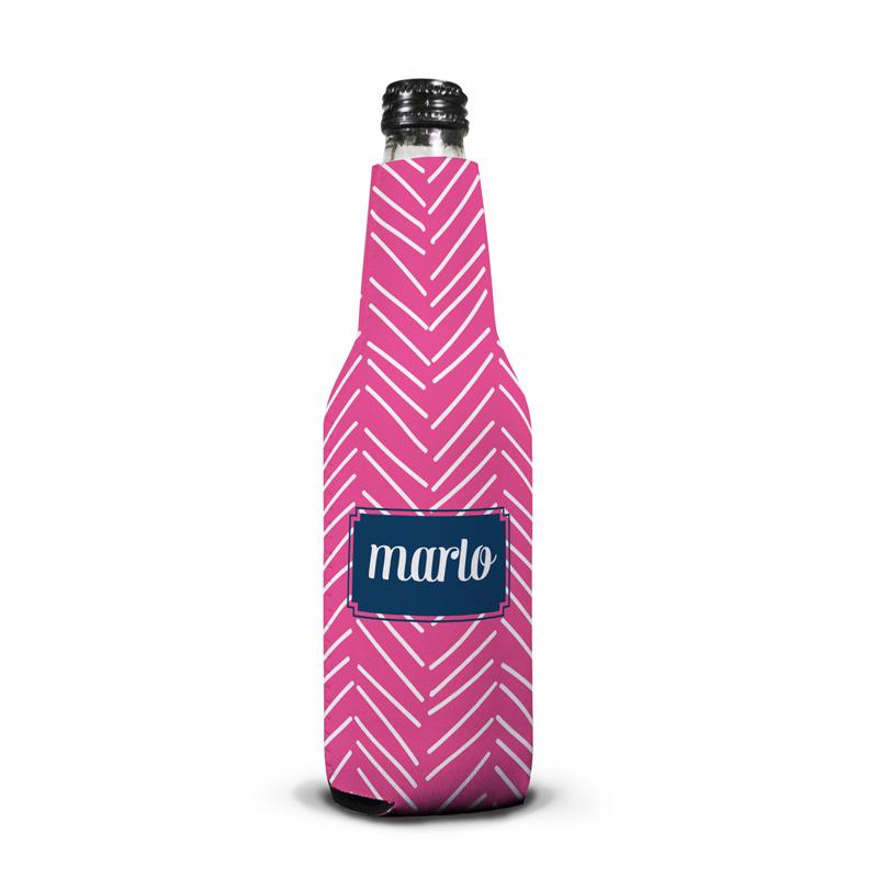 Little Lines Personalized Bottle Koozie