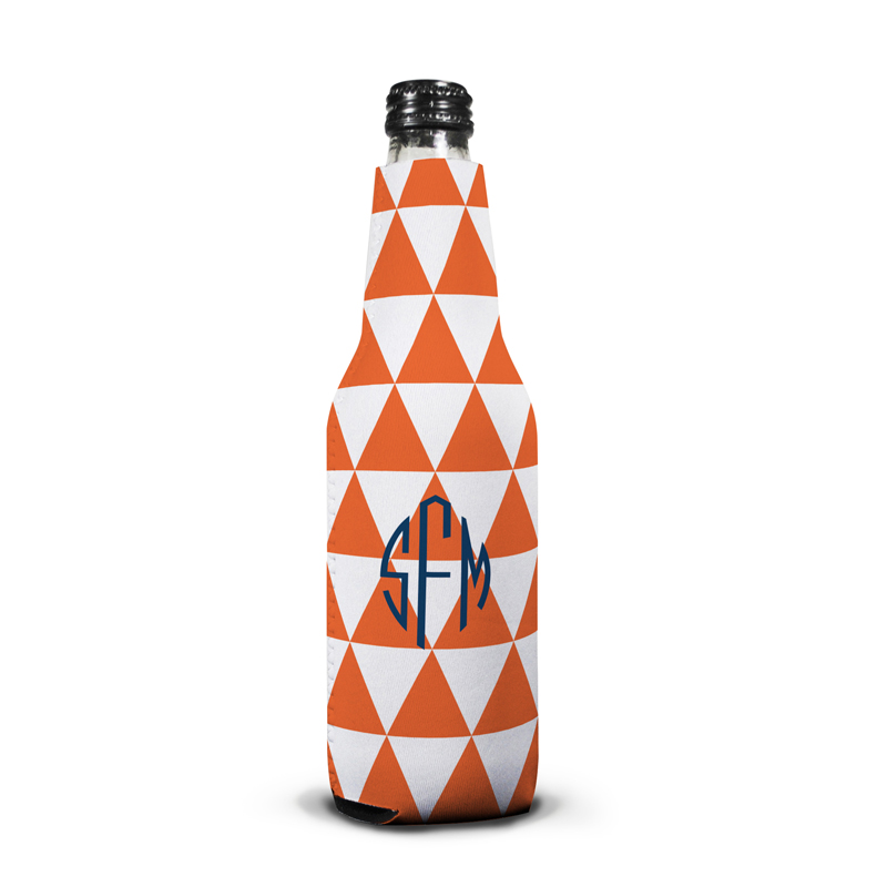 Triangles Personalized Bottle Koozie
