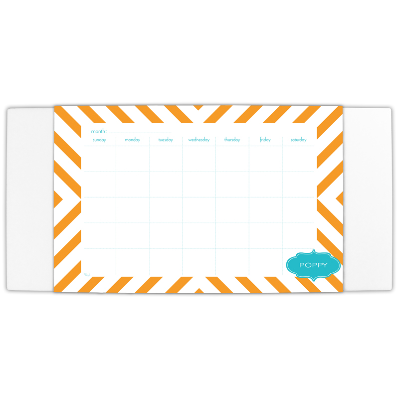 Chevron Personalized Blotter & 25 Page Pad