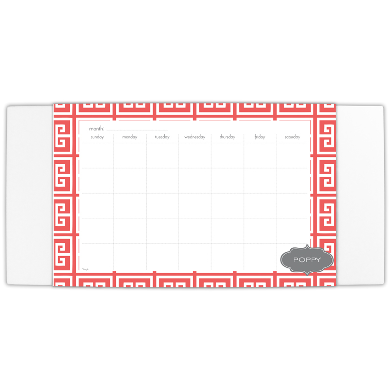 Greek Key Personalized Blotter & 25 Page Pad
