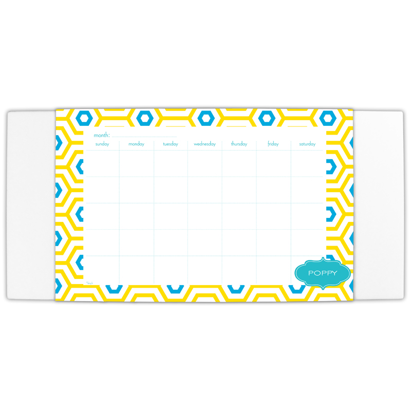 Happy Hexagon Personalized Blotter & 25 Page Pad