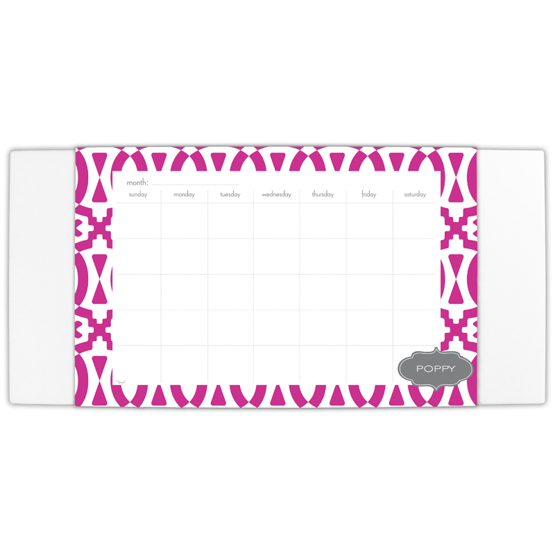Poppy Personalized Blotter & 25 Page Pad