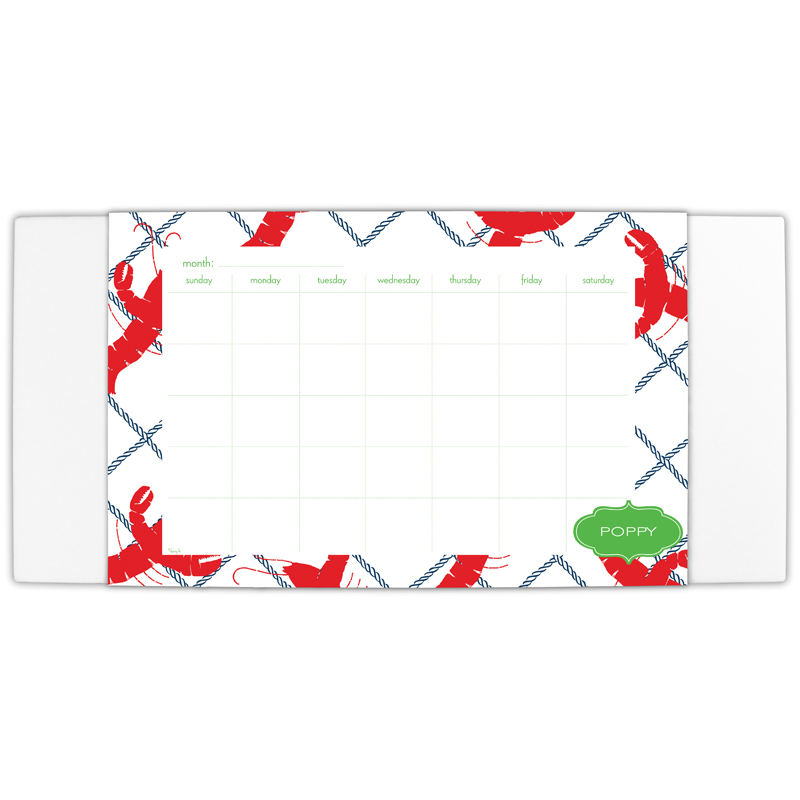 Rock Lobster Personalized Blotter & 25 Page Pad