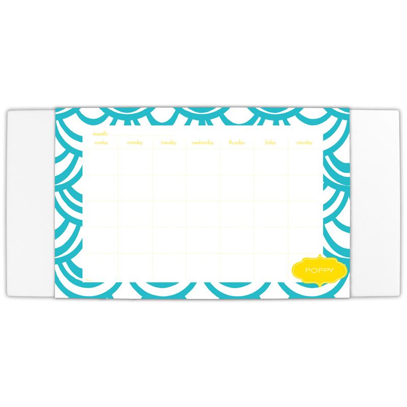 Seashells Personalized Blotter & 25 Page Pad